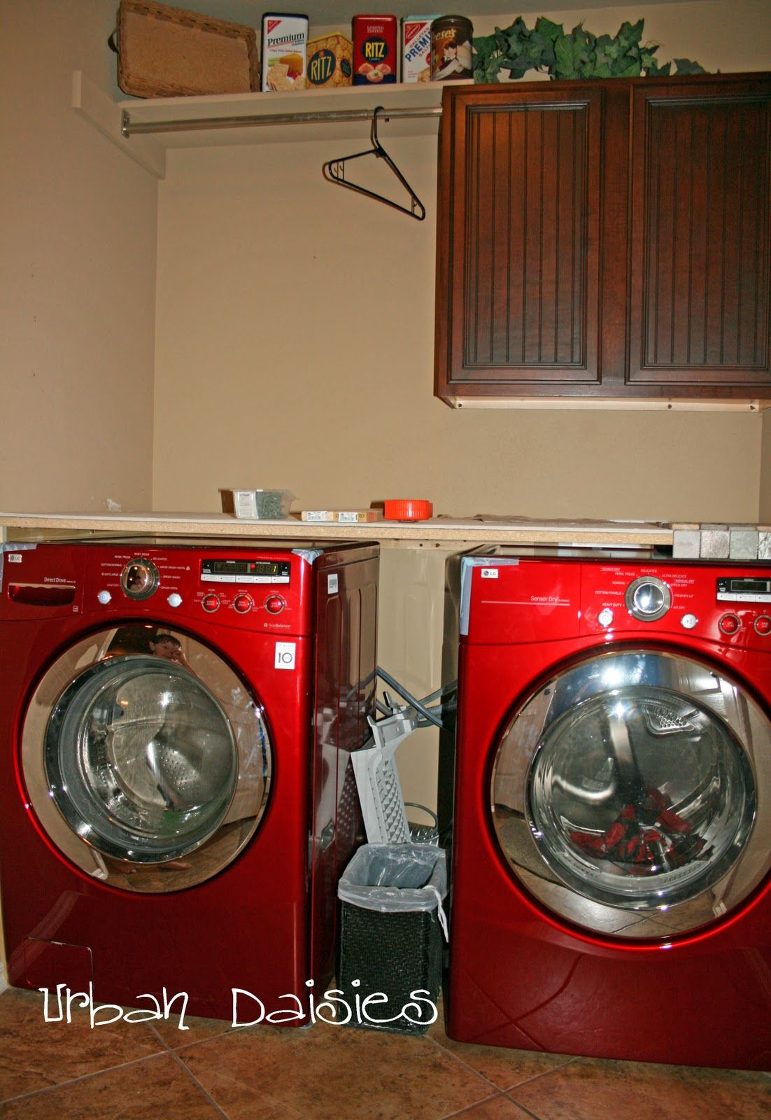 Earlier This Year Our Dryer Which Was Fairly Old Decided It Was Time To Retire I Took This Opportunity To Pick Out Some New Laundry Room Room Redo Laundry