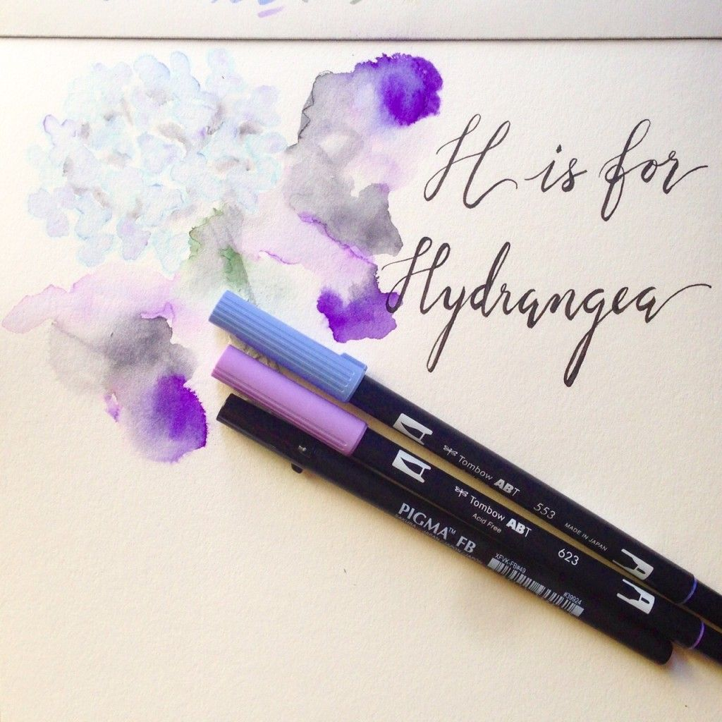 Easy Watercolour Technique With Tombow Pens Lovely Lettering