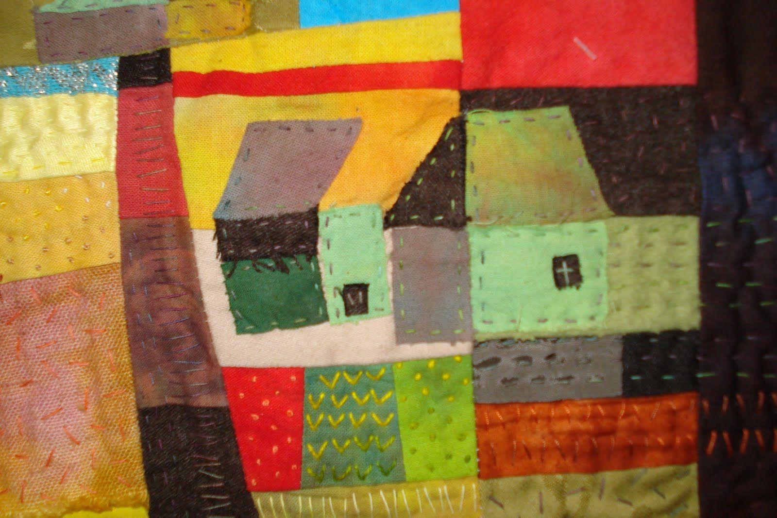 Close up of Ineke Berlyn's houses