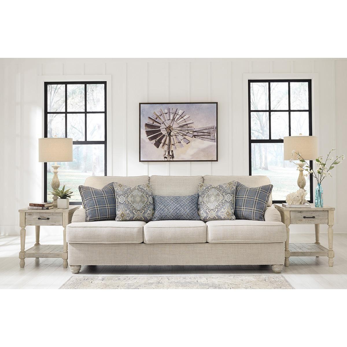 Signature Design By Ashley Traemore Sofa In Linen Nfm Ashley Furniture Furniture Ashley Furniture Sofas