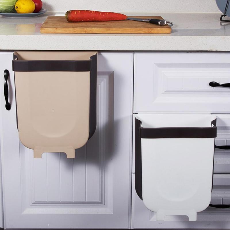 Kitchen Waste Bin Folding Cabinet Door Hanging Trash In 2020 Top Kitchen Gadgets Kitchen Gadgets Kitchen Waste Bin