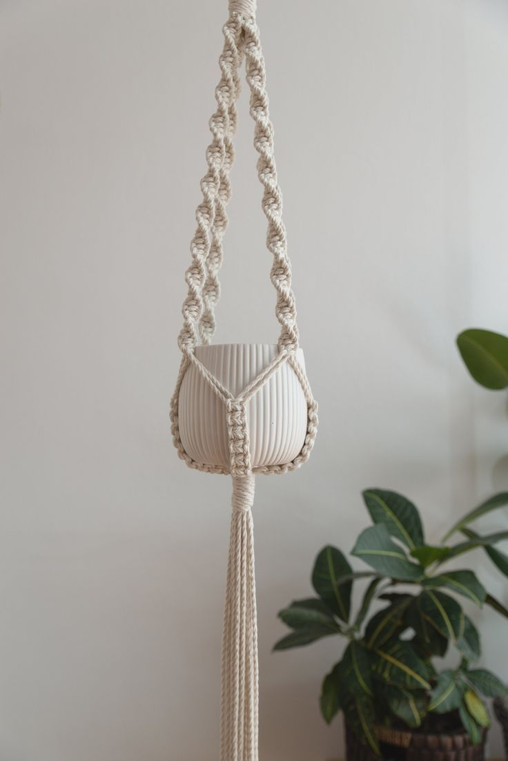 Photo of Macrame Plant Hanger, Boho Decor, Macrame Plant Holder, Bohemian Decor Accessories, Macrame Plant Ha – Famous Last Words