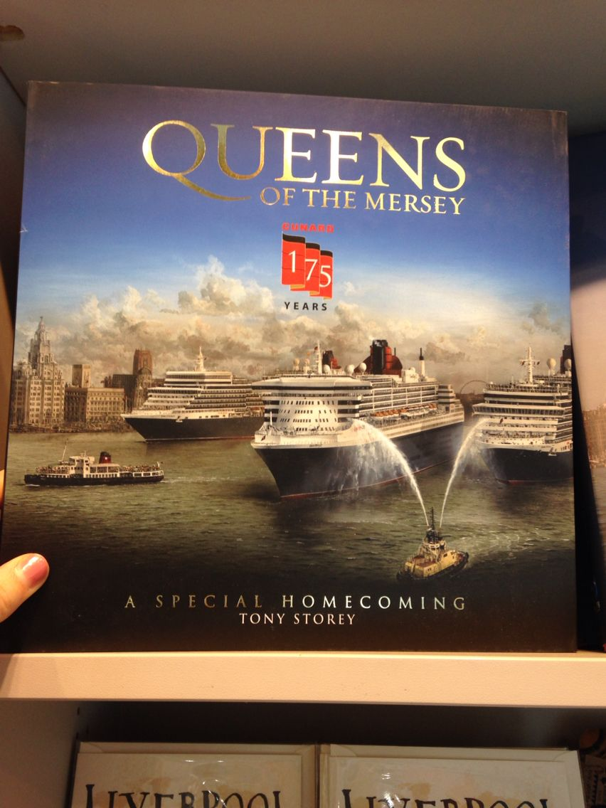 Celebrating the Three Queens historic meeting in Liverpool for Cunard's anniversary, Queens of the Mersey. Merseyshop.com