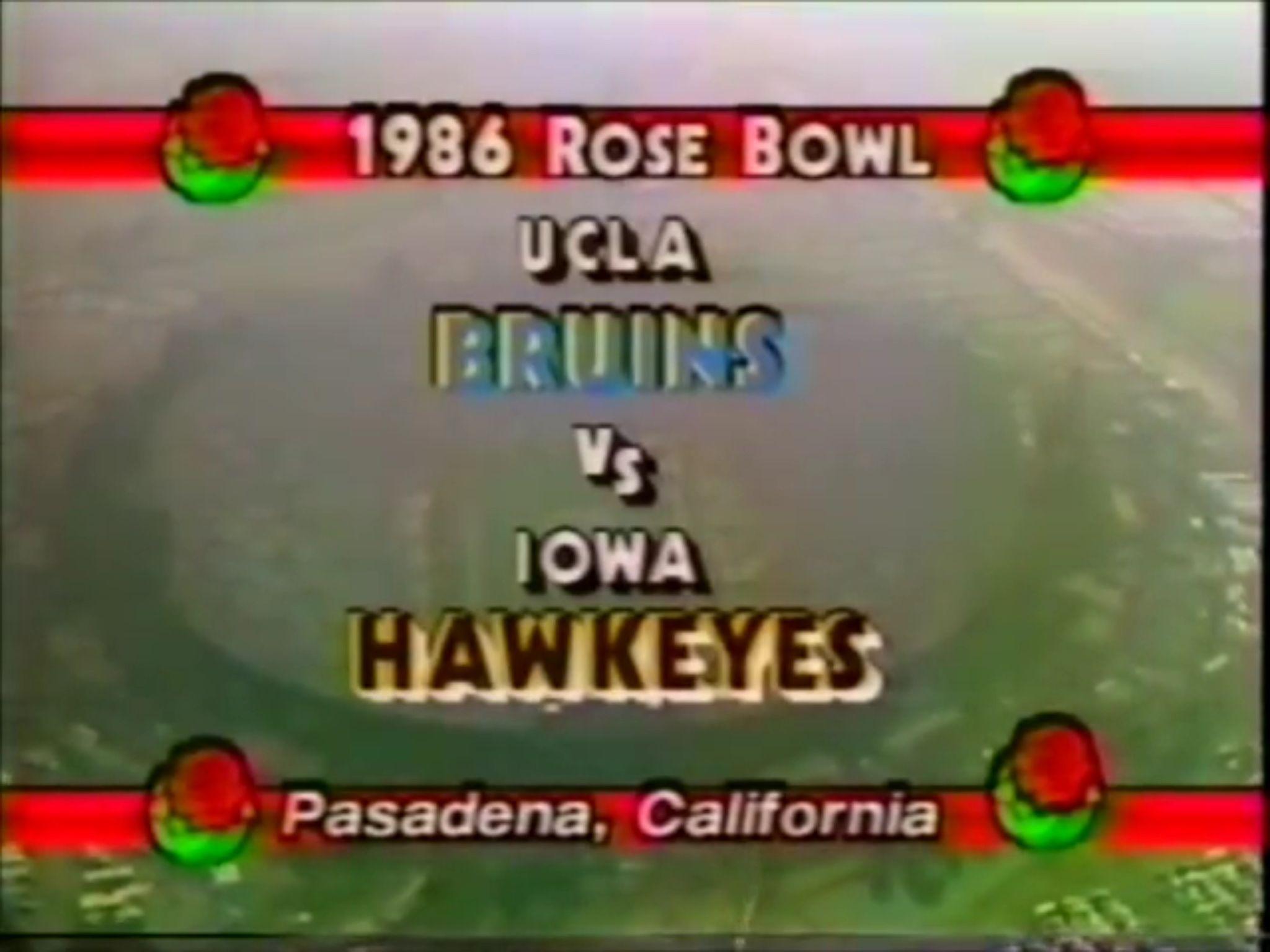 1986 Rose Bowl Rose bowl, Iowa hawkeyes, Iowa