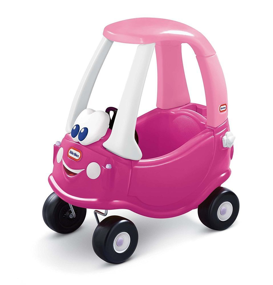 Car toys for girls  Girls Car Toy Little Tikes Pink Princess Cozy Coupe RideOn Happy