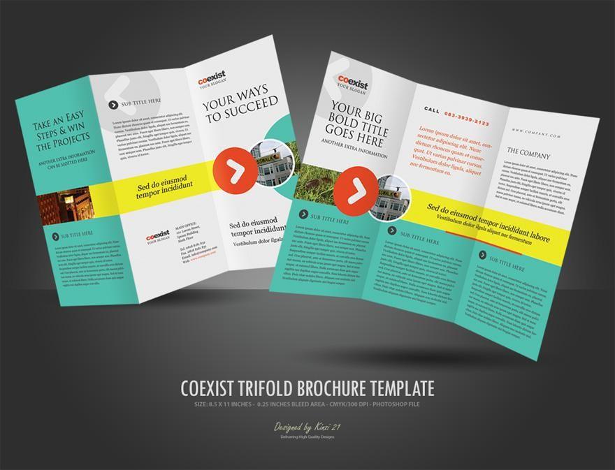 tri fold brochure template brochure pinterest tri fold