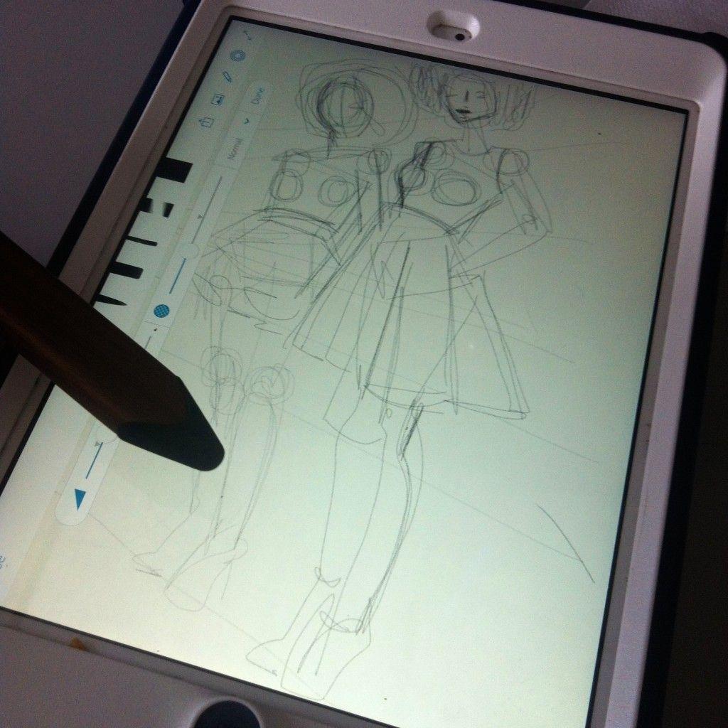 Laura Volpintesta Digital Fashion Sketching on the iPad