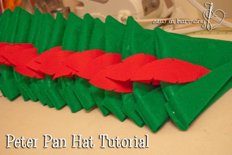 86327ccc4955f Peter Pan Hat Tutorial Diy Peter Pan Costume