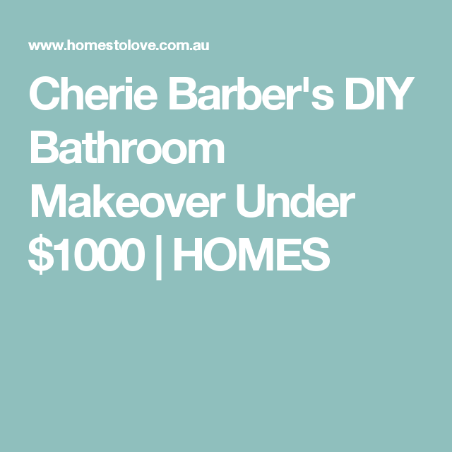 Bathroom Makeover For Under $1000 cherie barber's diy bathroom makeover under $1000 | homes