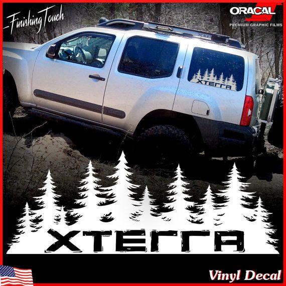 Nissan xterra decal custom vinyl forest silhouette graphic