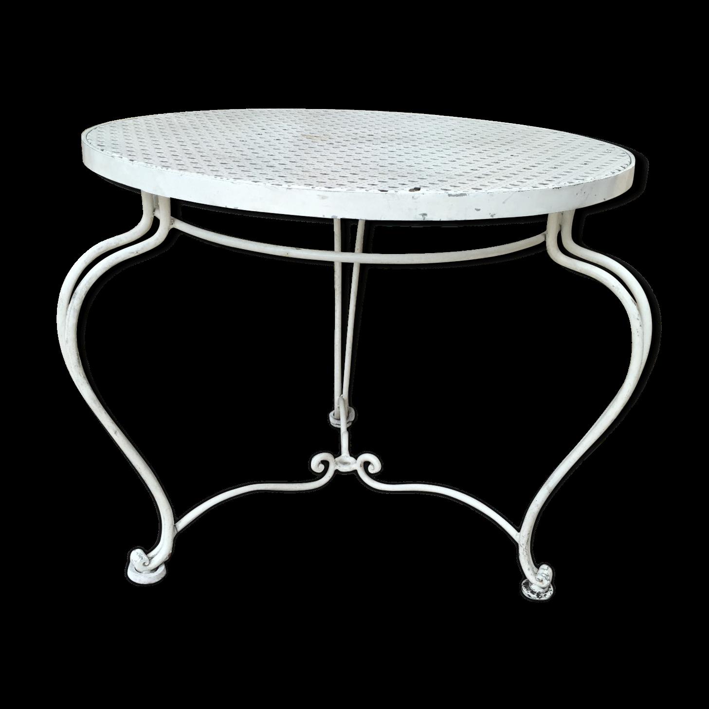Table basse de jardin en métal | Table basse jardin, Table ...