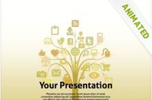 free social media powerpoint template was built for social network