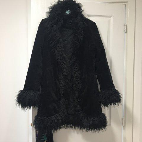 Black Vintage Afghan Coat Size, Ladies Black Fur Coat Dorothy Perkins