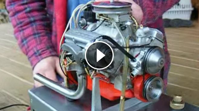 the world s smallest chevy 327 v8 engine that actually runs this rh pinterest com