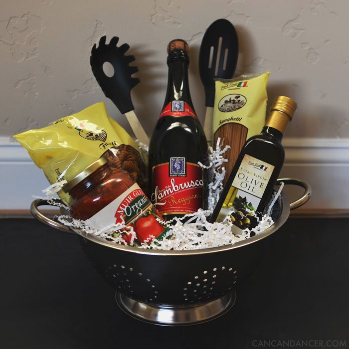 Wedding Night Basket Ideas: Bridal Shower Present - Italian Dinner Date Night