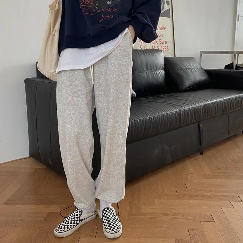 [Korean Style] Pan 2 Colors Drawstring Sweatpants