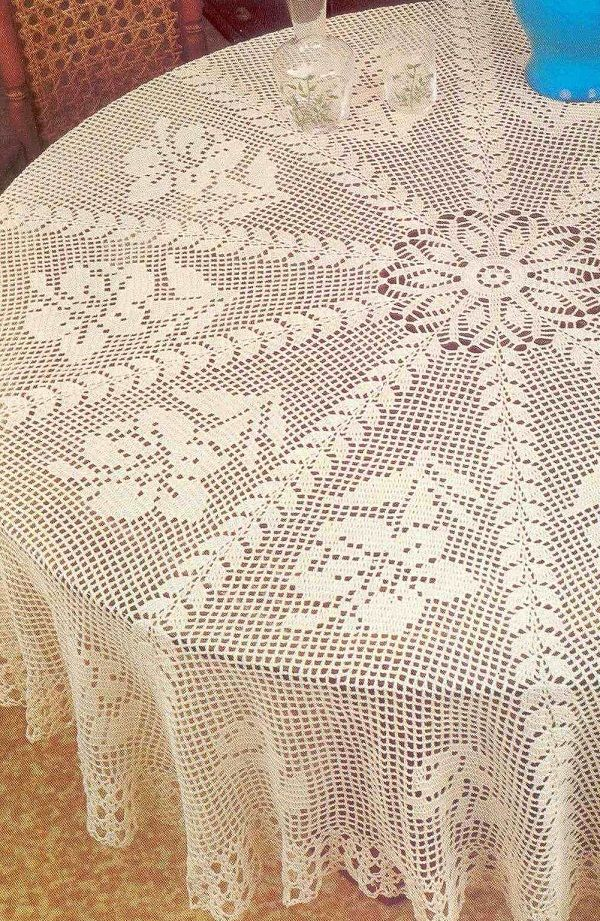 Free Crochet Round Pineapple Tablecloth Pattern Bing Images