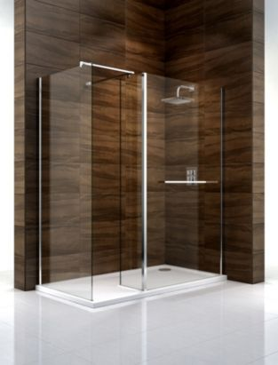 Cooke & Lewis Cascata (W)1400mm Walk-In Right Handed Shower ...