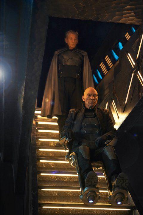 Still of Patrick Stewart and Ian McKellen in X-Men: Days of Future Past (2014)