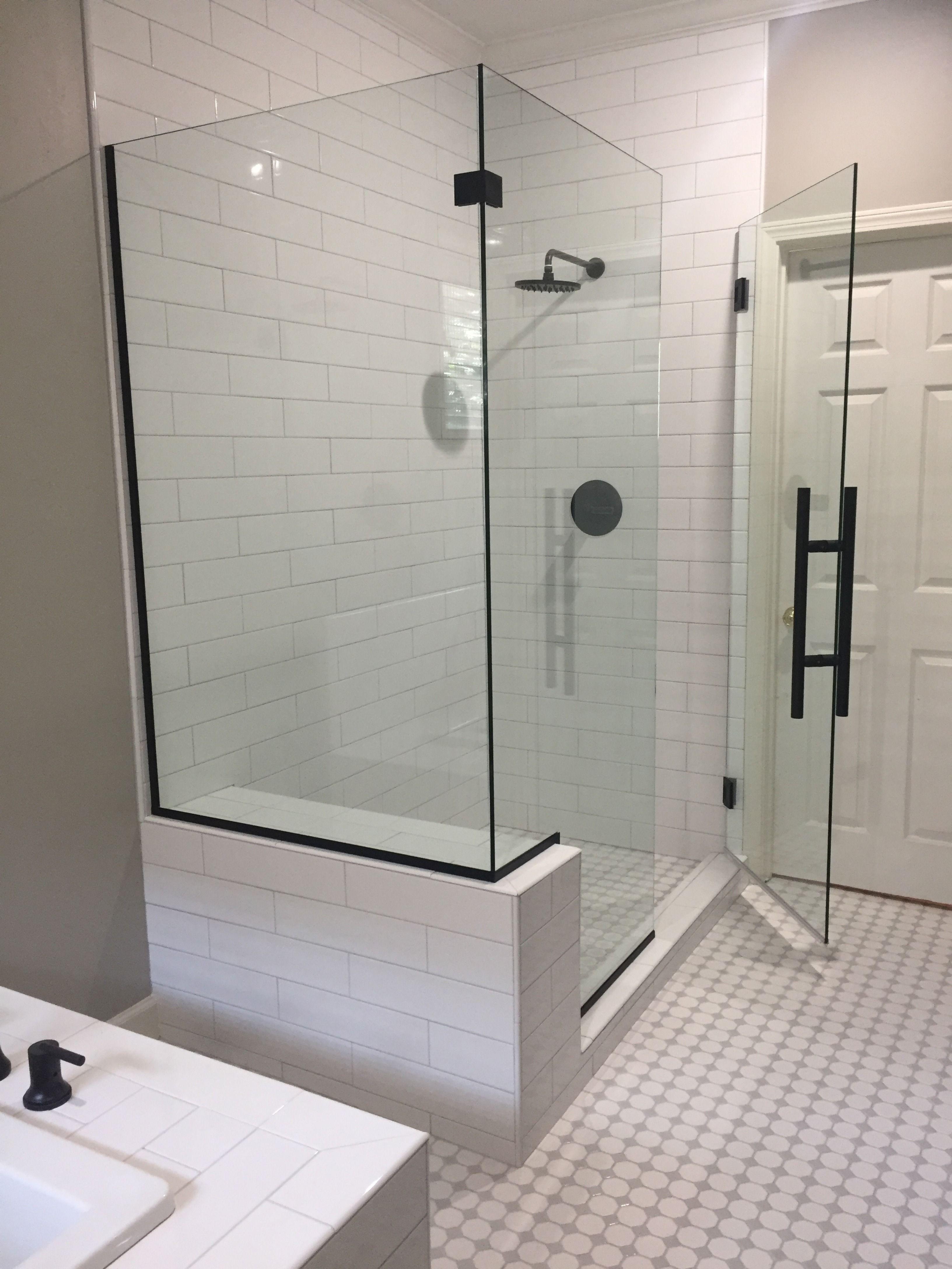 Matte Black Frameless Shower Door Shower Doors Frameless Shower