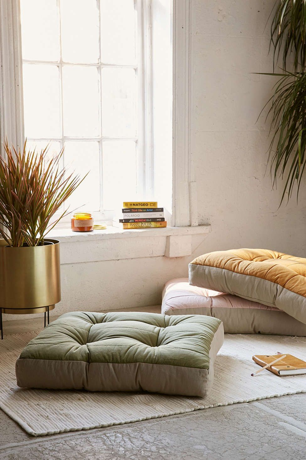 living room pillows floor wall decor around tv yooko colorblock pillow pinterest urban outfitters