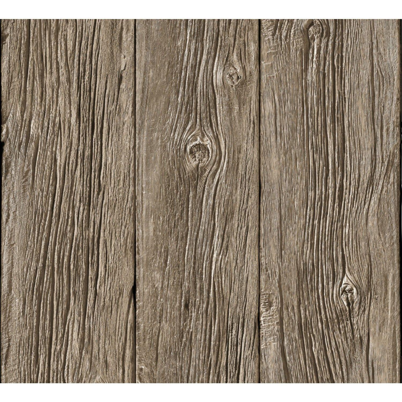 Papier peint Planches de bois flotté trompe l\'oeil (Rouleau : 10 m ...