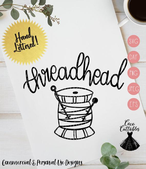 Thread head SVG Cutting File, Sewing Svg, Knitting Svg