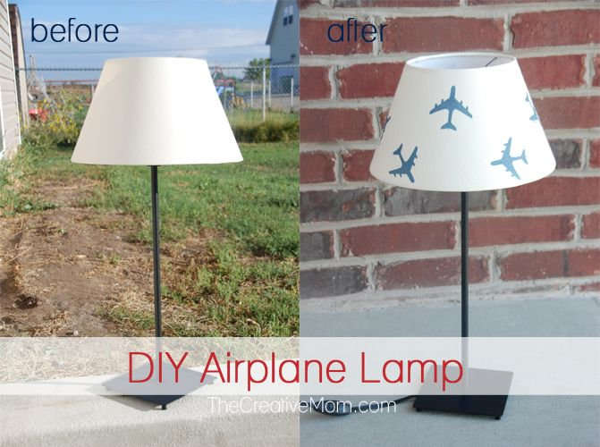 Diy Airplane Lamp Ikea Hack The Creative Momthe Mom