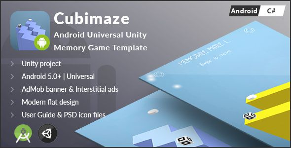 Cubimaze | Android Universal Unity 3D Memory Game Template
