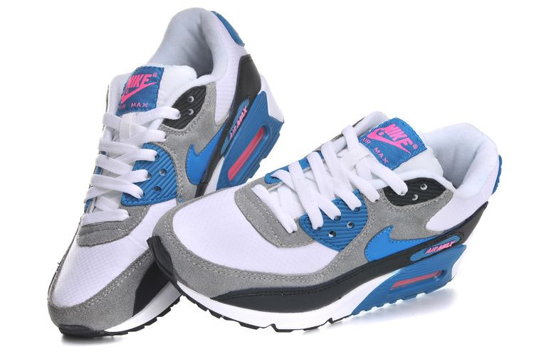 Nike Air Max 90 Chaussures De Ville Pour Femmes Gris