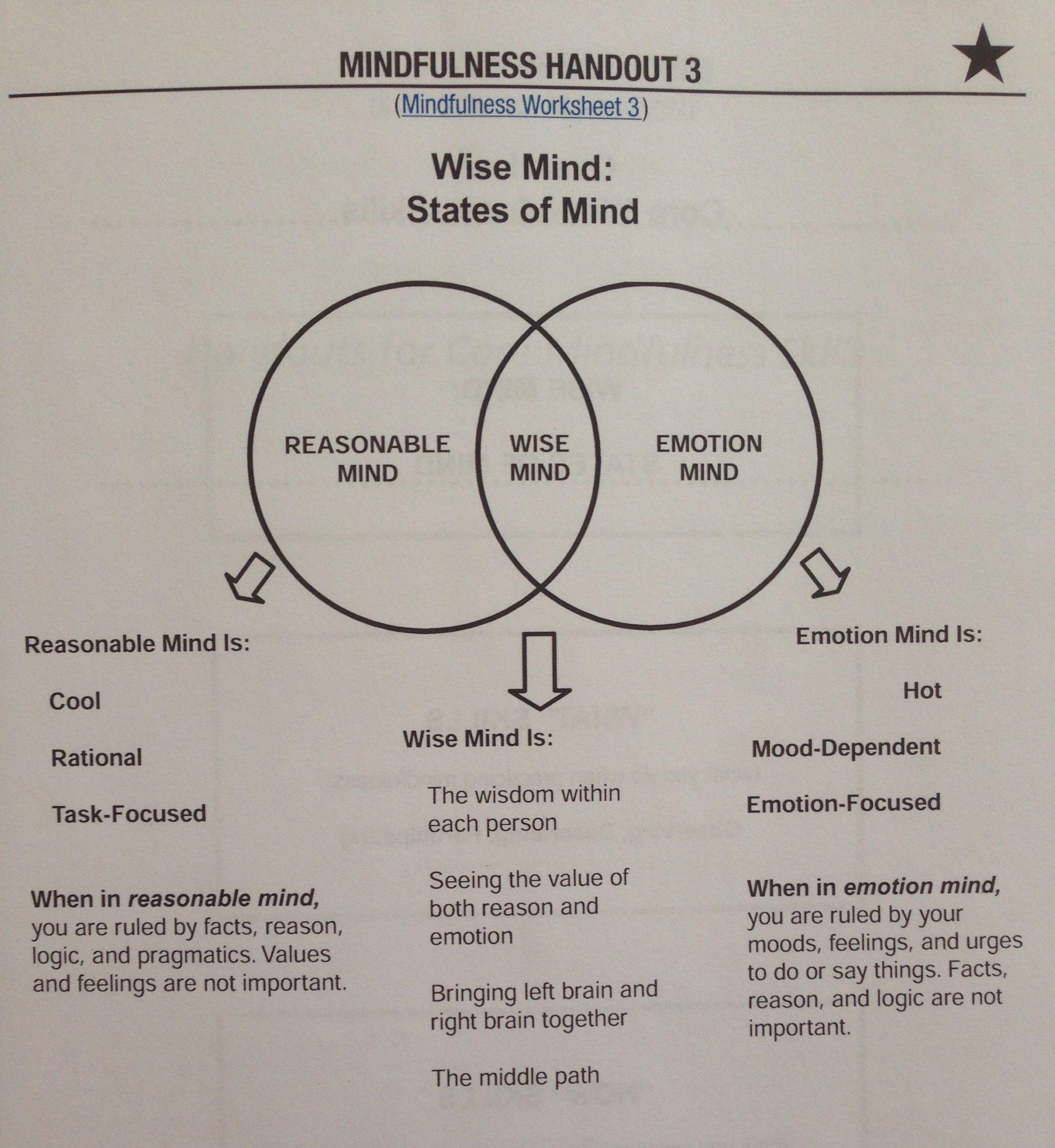 Dbt Skills Group Mindfulness Week 1