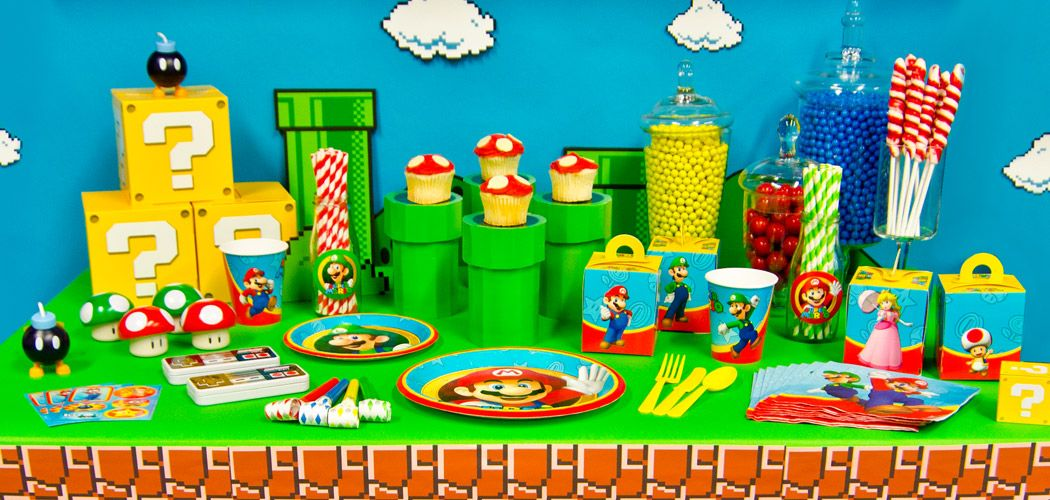 Super Mario Birthday Party party ideas Pinterest Mario