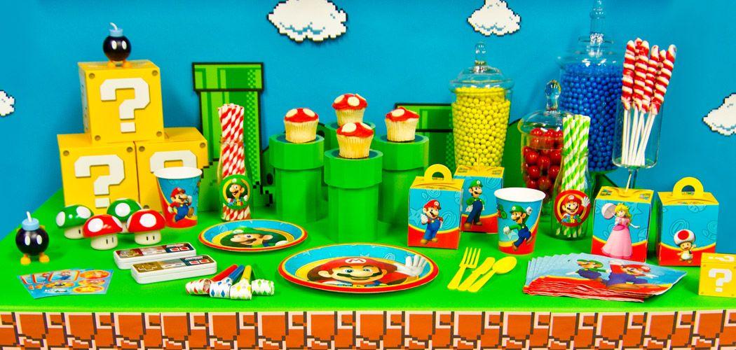 Super Mario Birthday Party party ideas Pinterest Mario