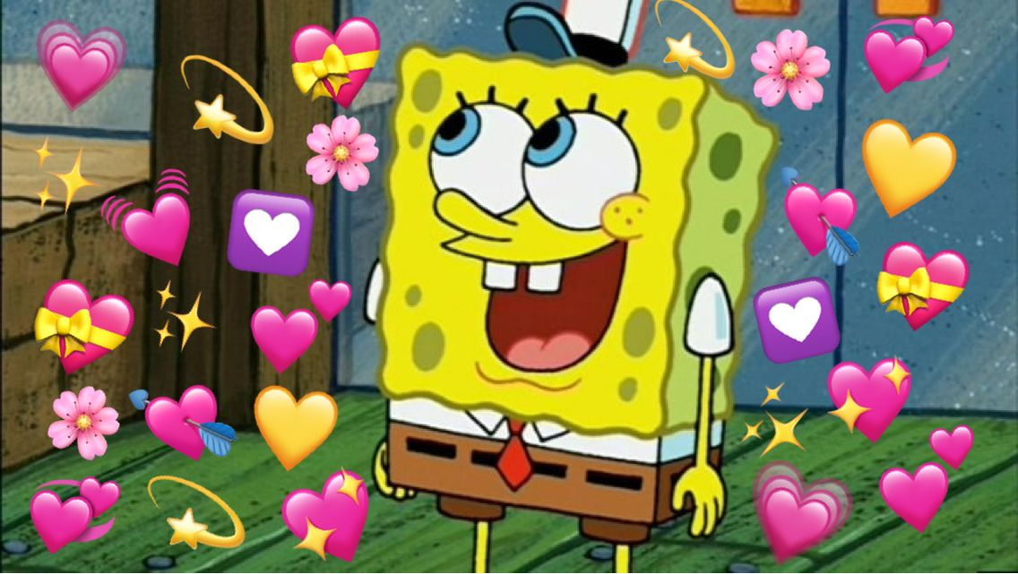 Spongebob Surprised By Love Cute Love Memes Spongebob Wallpaper Spongebob