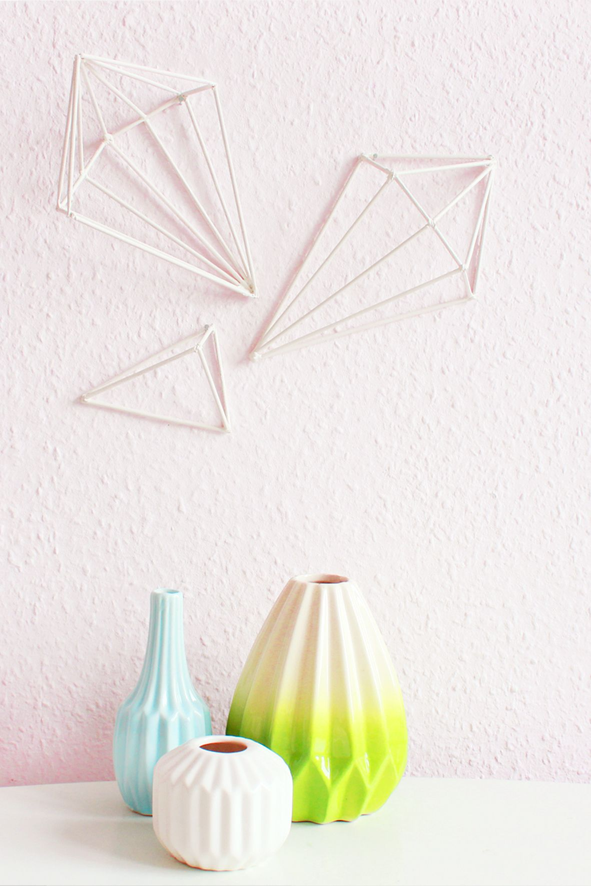 Wanddeko Geometrisch Diy Geometric Wall Art Wandobjekte Selber Machen Diy Projects