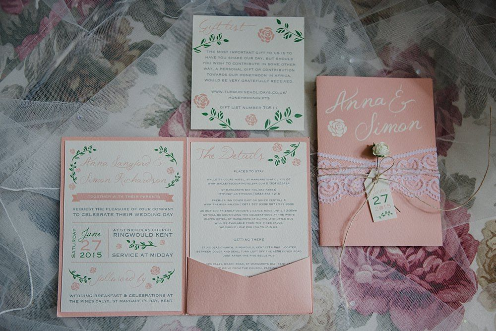 Peach Wedding Stationery The Pines Calyx