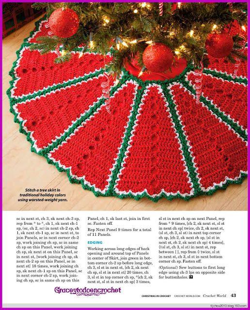 Tree Skirt...Falda para adornar el árbol de Navidad! | Navidad ...