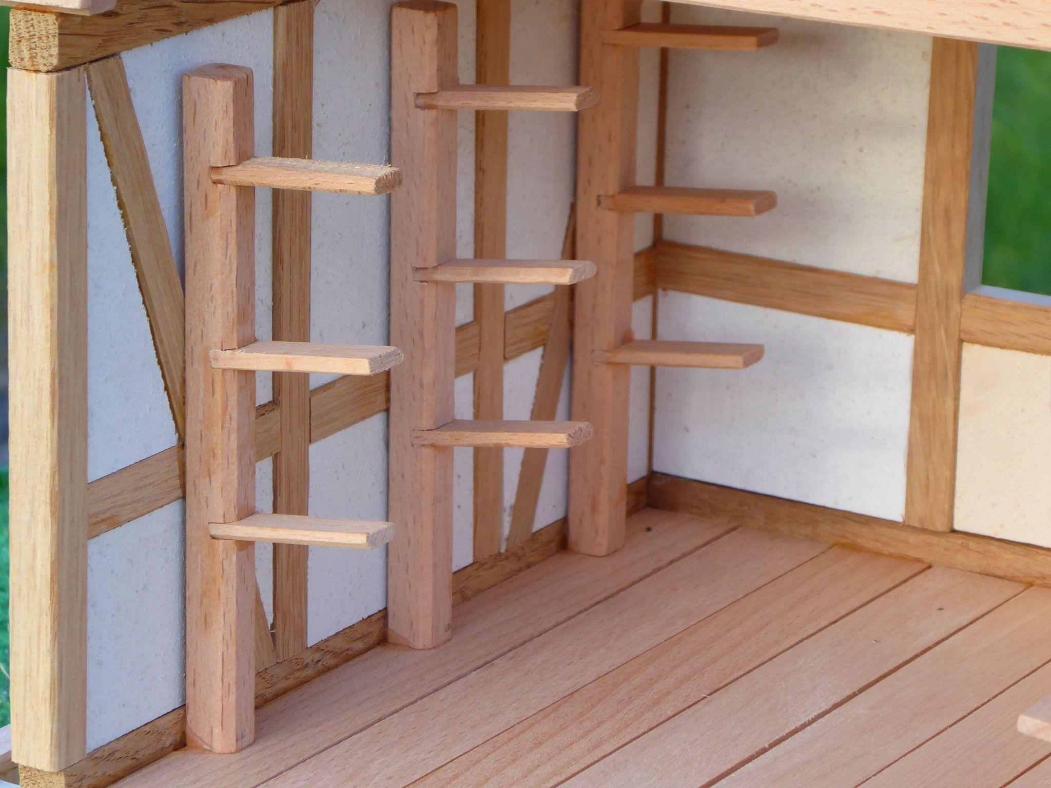 Pferdestall Holz Bausatz Spielzeug