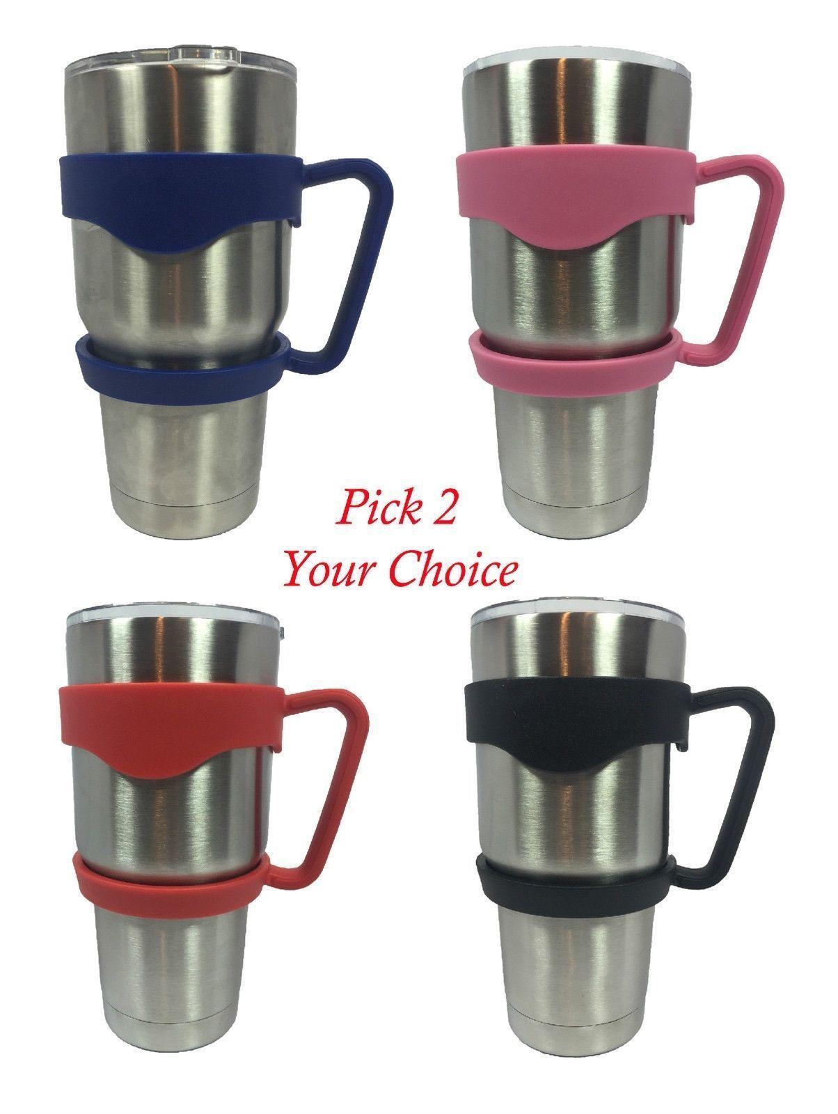 77898ccaf35 X2 Tumbler Handle 30 Oz Yeti Holder Travel Mug Rtic Red Pink Blue Black Sic