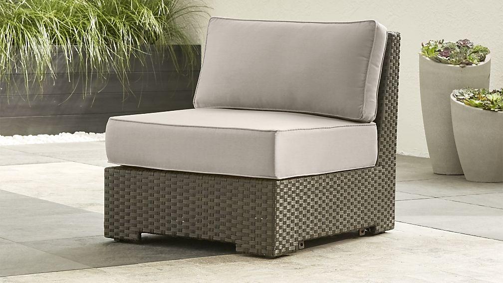 ventura umber modular armless chair with stone sunbrella cushions rh pinterest com