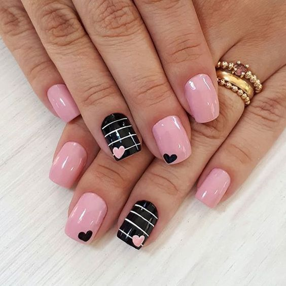 50 Trendy Acrylic Nail Designs For Valentine S Day Heart Nail Designs Pink Nail Art Designs Valentine S Day Nail Designs