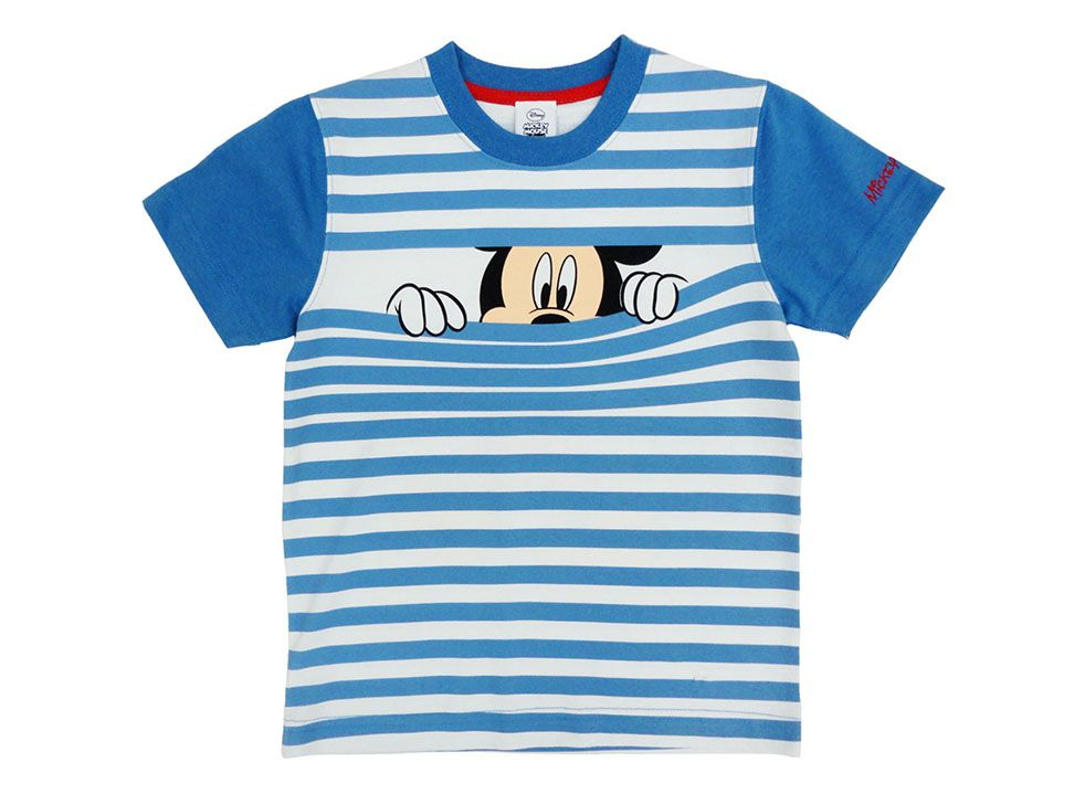 Azul T-Shirt Manga Larga Disney ni/ños Mickey Mouse Camiseta