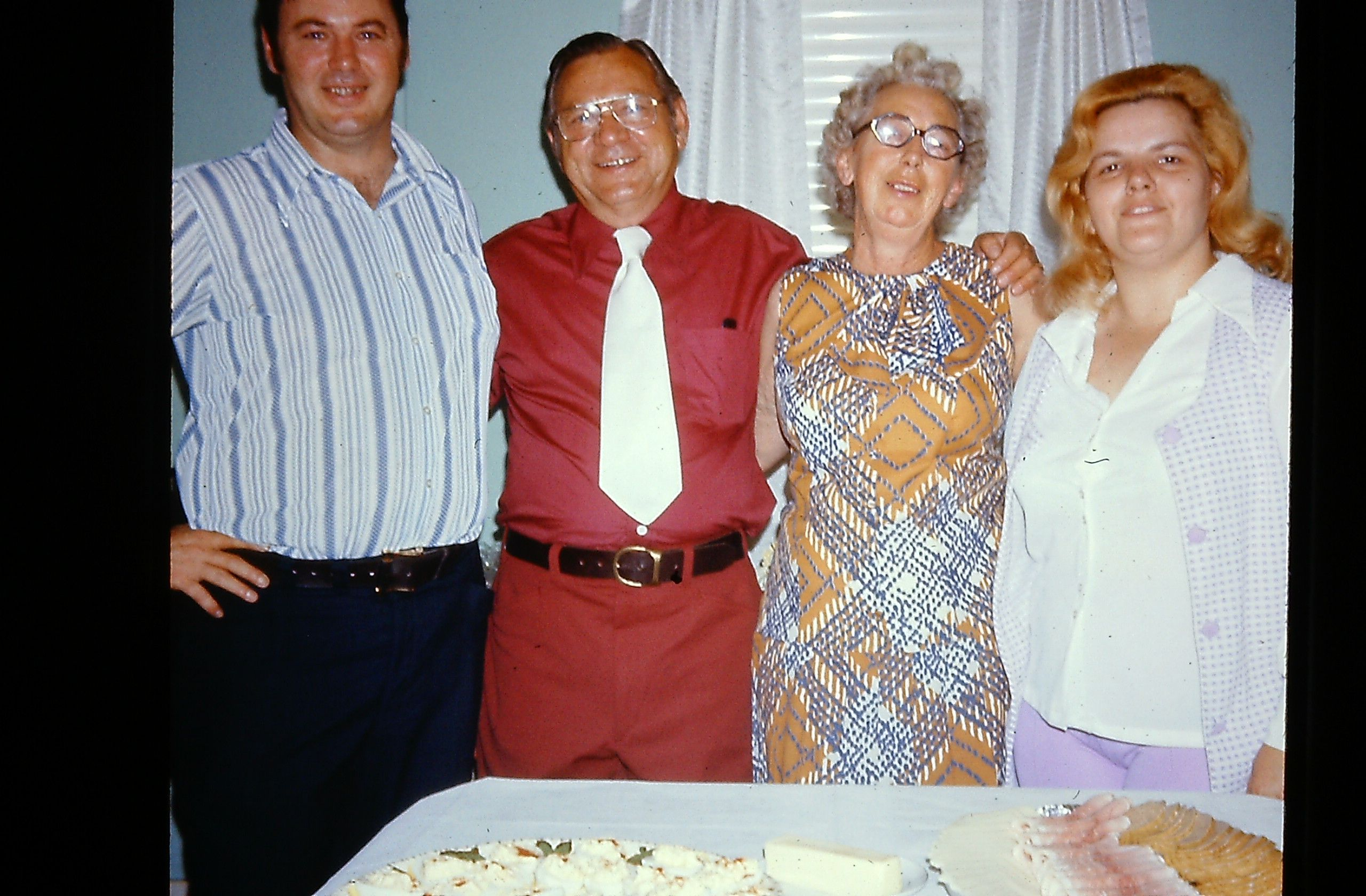 Grandma and Grandpa's 40th Anniversay Party at mom and dad's in Schenectady, about 1970