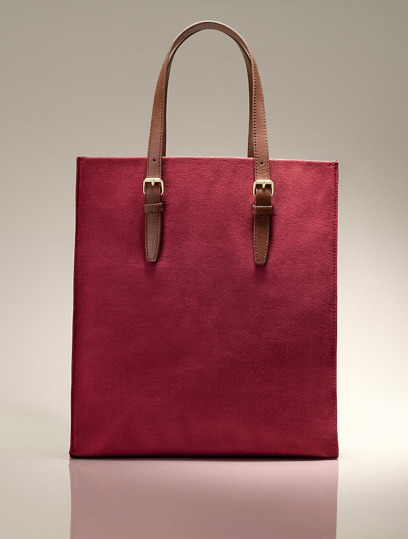 06a298d1351d Cotton Canvas & Leather Tote | moods worn or to wear (sometime soon ...