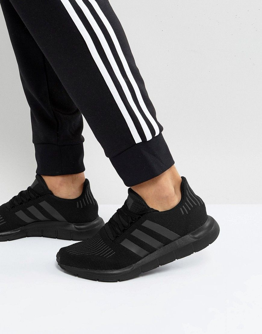 edc894e09 ADIDAS ORIGINALS SWIFT RUN SNEAKERS IN BLACK CG4111 - BLACK.   adidasoriginals  shoes