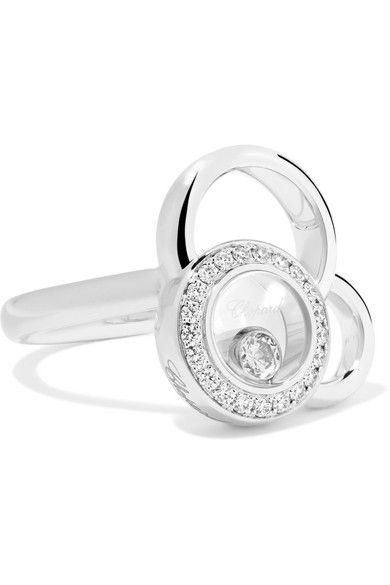 Chopard Happy Dreams 18-karat White Gold Diamond Earrings 6JhyH2MRdK
