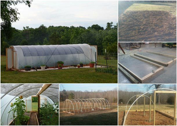 how to build a 300 square foot windproof hoop house for under 500 rh pinterest com