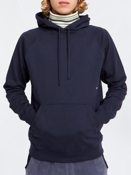 Fred Hoodie Navy Wood Wood | Bomull