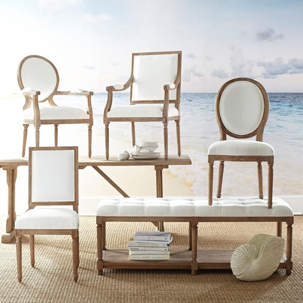 Louis XVI End Chair - White