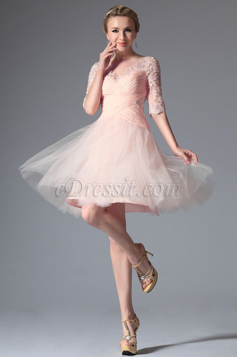 eDressit 2014 Neu Rosa Stilvoll Design Cocktail Kleid Party Kleid ...